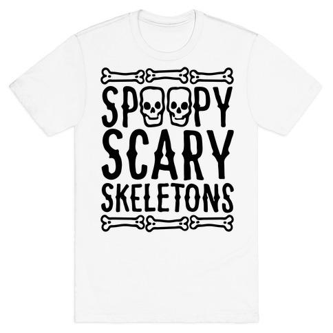 Spoopy Scary Skeletons Parody T-Shirt
