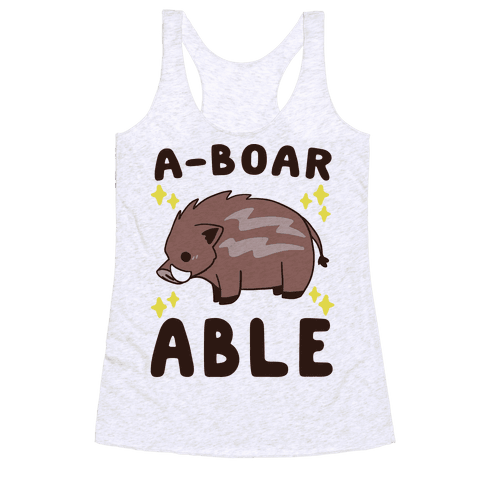 A-boarable - Boar Racerback Tank Top