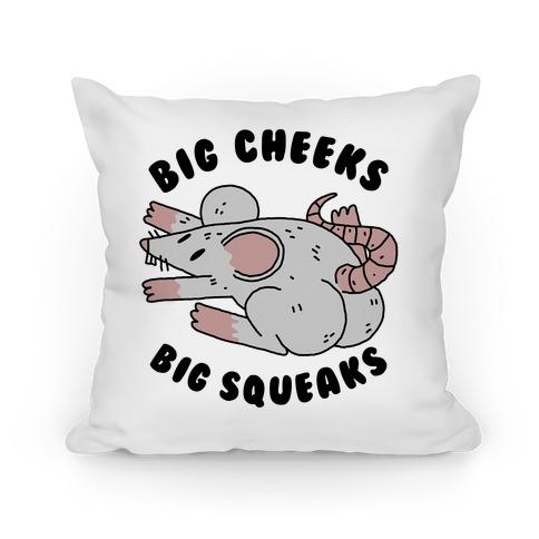 Big Cheeks Big Squeaks Pillow