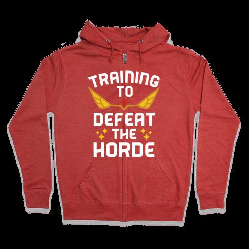Training to Defeat the Horde Zip Hoodie