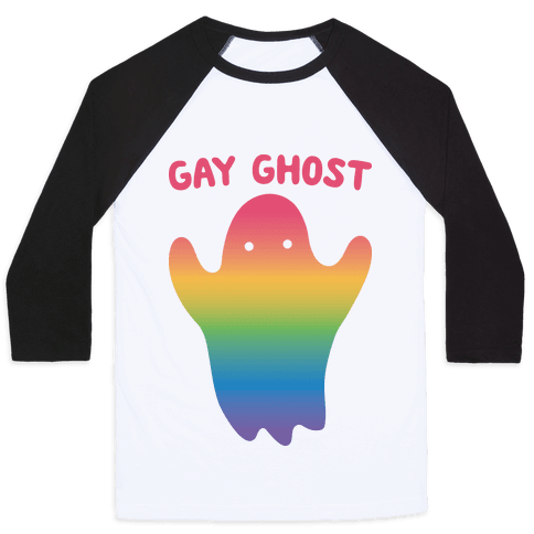 Gay Ghost Baseball Tee