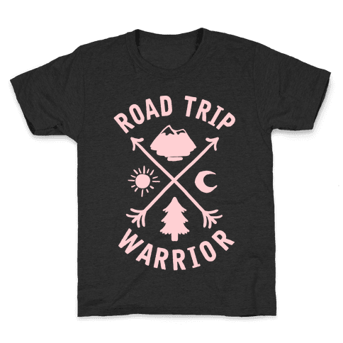 Road Trip Warrior Kids T-Shirt
