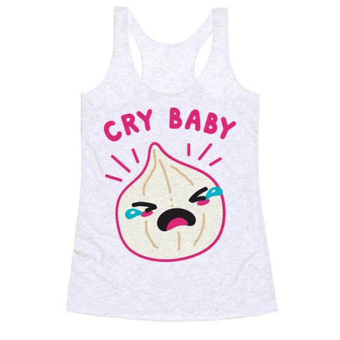 Cry Baby Onion Racerback Tank Top