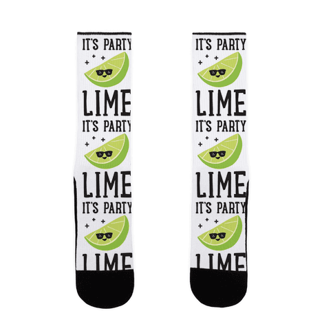It's Party Lime Sock