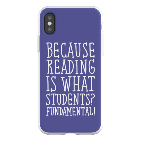 Reading Is Fundamental Teacher Parody Phone Flexi-Case