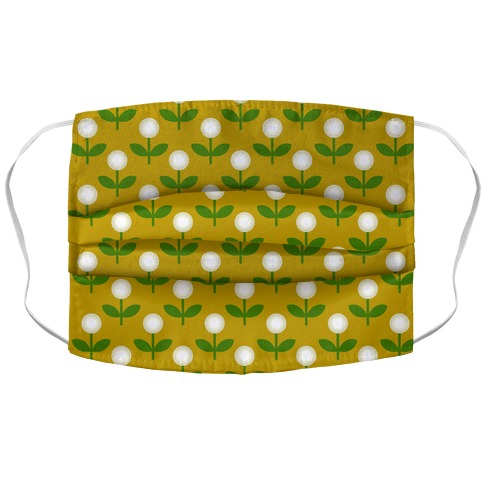 Dainty Retro Dandelions Yellow Pattern Accordion Face Mask