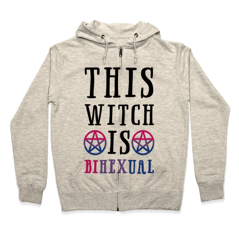 This Witch Is Bihexual Zip Hoodie