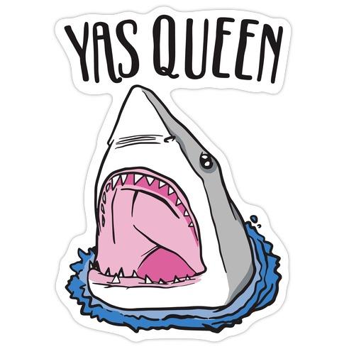 Yas Queen Shark Die Cut Sticker