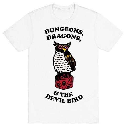 Dungeons, Dragons, & the Devil Bird T-Shirt