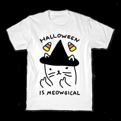 Halloween Is Meowgical Kids T-Shirt