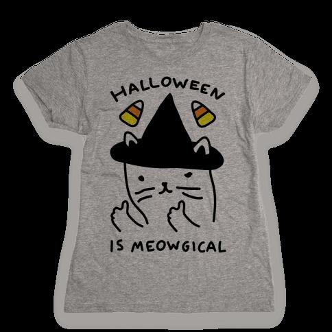 Halloween Is Meowgical Womens T-Shirt