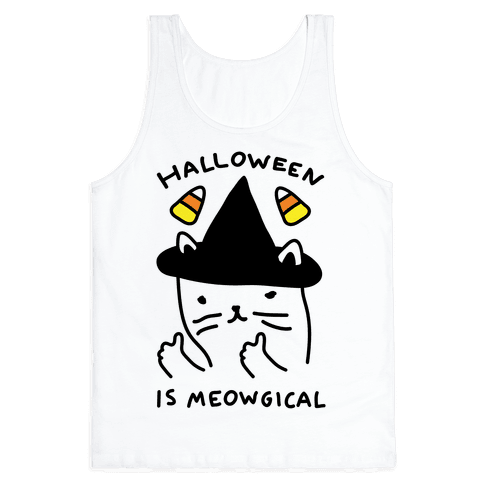 Halloween Is Meowgical Tank Top