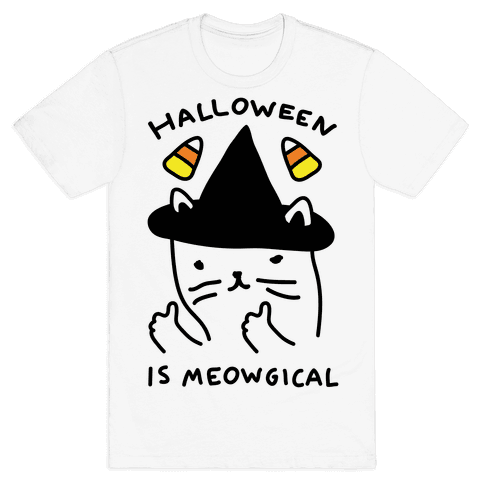 Halloween Is Meowgical Mens T-Shirt