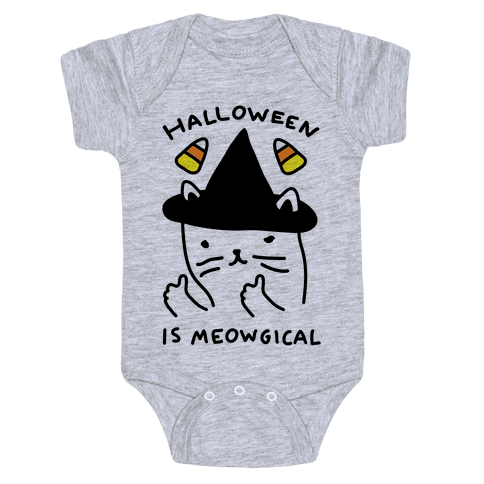 Halloween Is Meowgical Baby Onesy