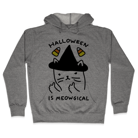 Halloween Is Meowgical Hooded Sweatshirt