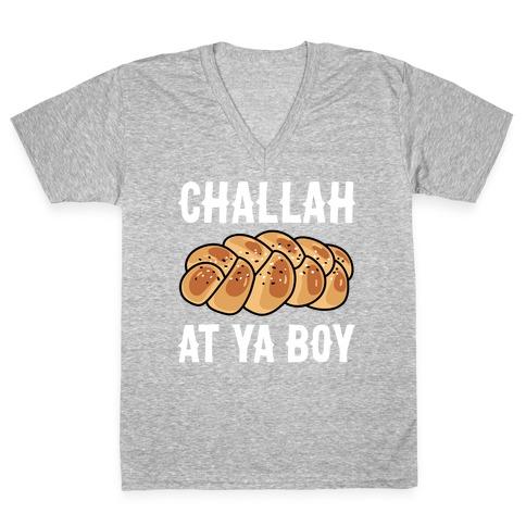 Challah At Ya Boy V-Neck Tee Shirt