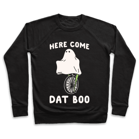 Here Come Dat Boo White Print Pullover