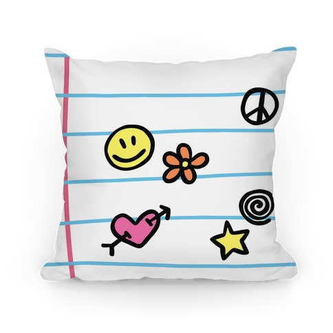 School Doodles Pillow