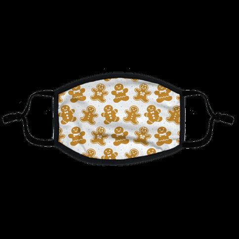 Gingerbread Man Pattern Flat Face Mask