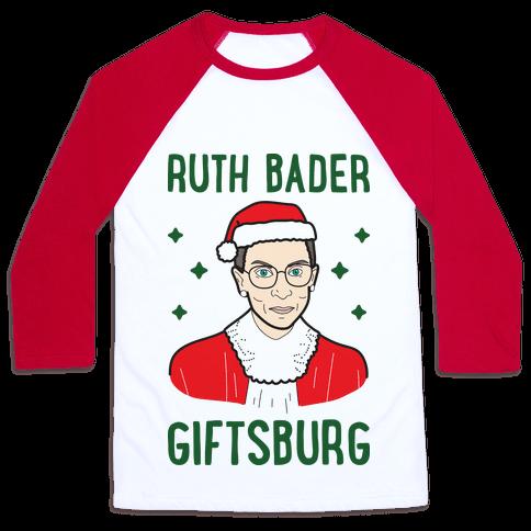 Ruth Bader Giftsburg Baseball Tee