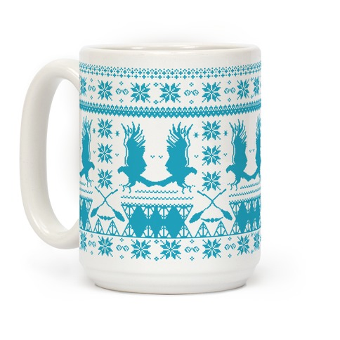 Hogwarts Ugly Christmas Sweater: Ravenclaw Coffee Mug