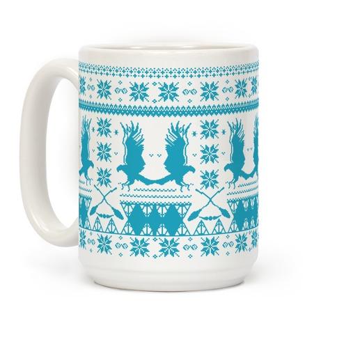 Hogwarts Ugly Christmas Sweater: Ravenclaw Coffee Mug