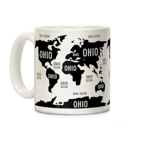 The Ohio World Map Coffee Mug