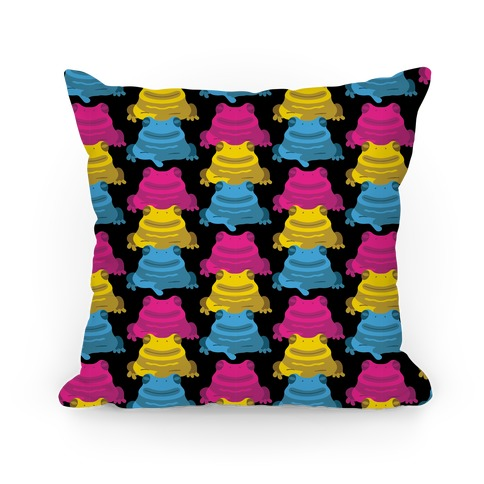 Pansexual Froggie Pattern Pillow