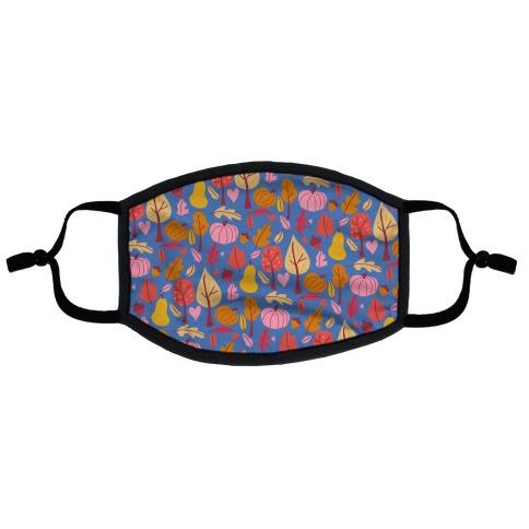 Retro Fall Love Pattern Flat Face Mask