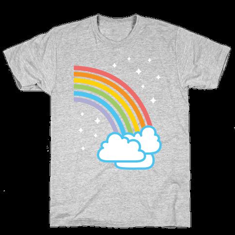 Rainbow Pair 2 (White) Mens T-Shirt