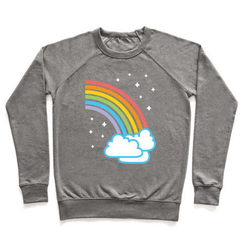 Rainbow Pair 2 (White) Pullover