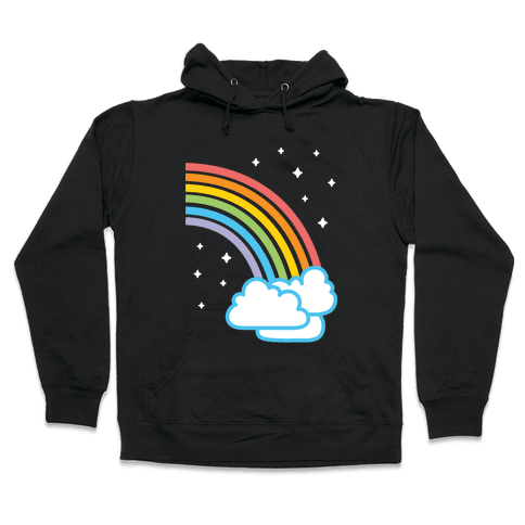 Rainbow Pair 2 (White) Hooded Sweatshirt