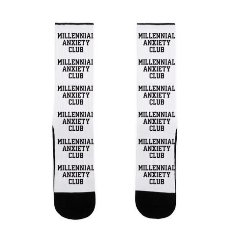 Millennial Anxiety Club Sock
