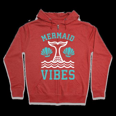 Mermaid Vibes Zip Hoodie