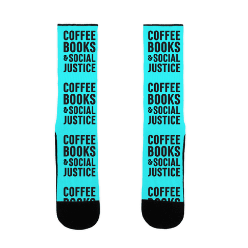 Coffee Books & Social Justice Sock