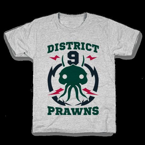 District 9 Prawns (Sports Logo Parody) Kids T-Shirt