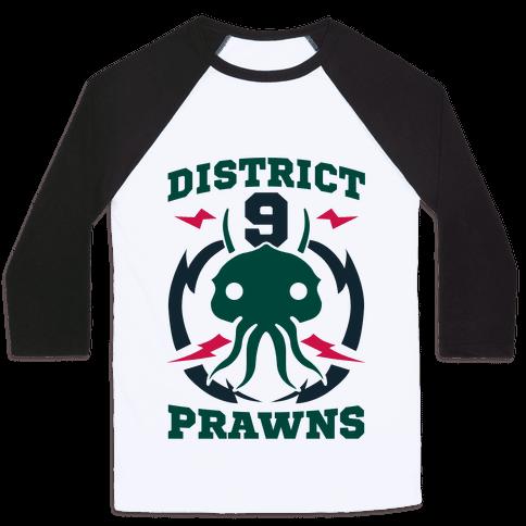 District 9 Prawns (Sports Logo Parody) Baseball Tee