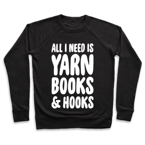 Yarn, Books, And Hooks