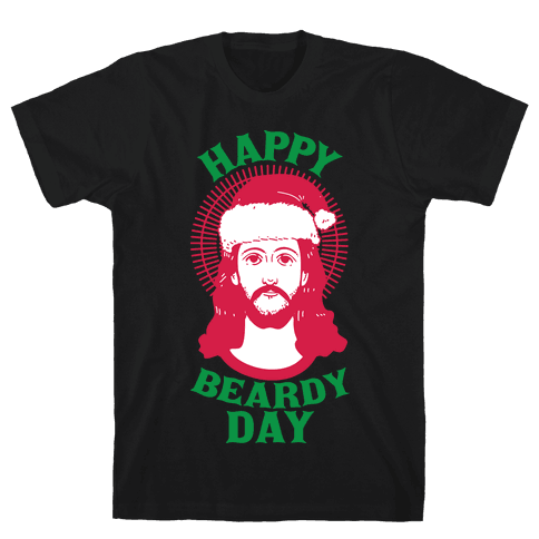 Happy Beardy Day  Mens T-Shirt