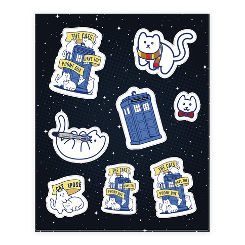 Catipose Sticker Set Sticker and Decal Sheet