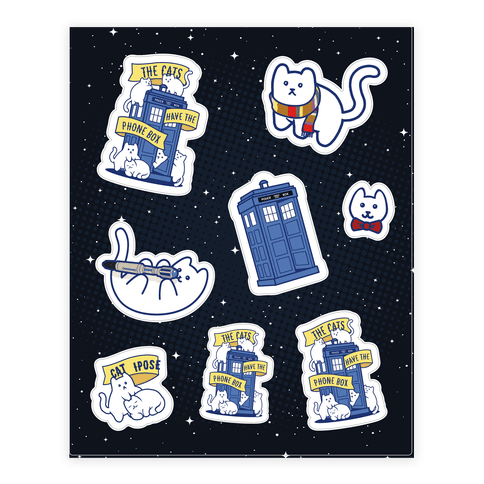 Catipose Sticker Set