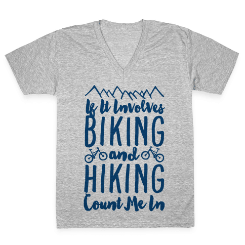 Biking and Hiking V-Neck Tee Shirt