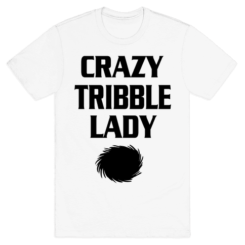 Crazy Tribble Lady Mens T-Shirt