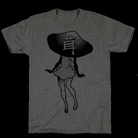 Mushroom Girl Mens T-Shirt