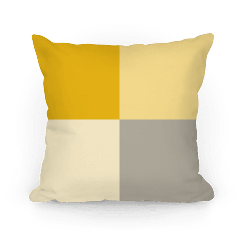 Yellow Color Block Pillow