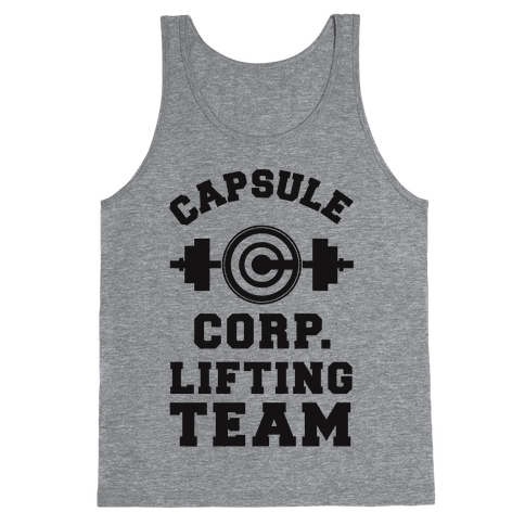 Capsule Corp. Lifting Team Tank Top