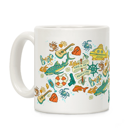 Life Aquatic Nautical Pattern Coffee Mug