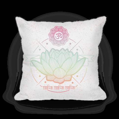 Om Shanti Shanti Shanti Pillow