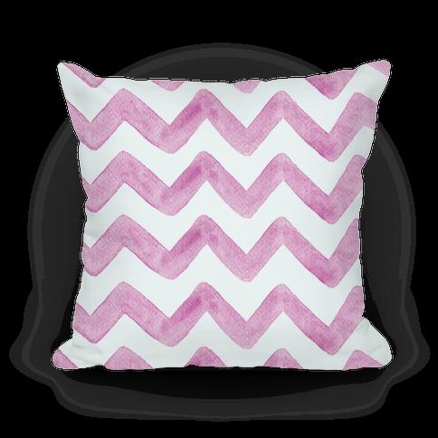 Pink Watercolor Chevron Pattern