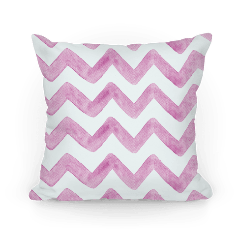 Pink Watercolor Chevron Pattern
